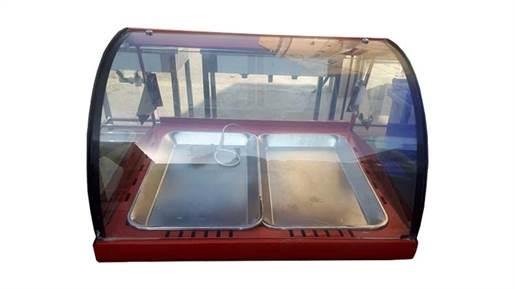 گرمکن پیراشکی دو سینی نما شیشه رومیزی