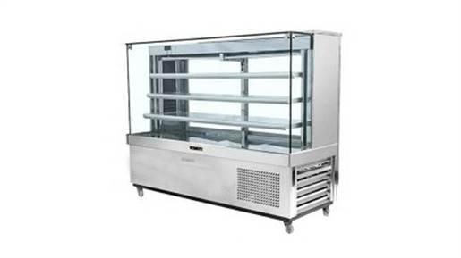 یخچال مکعبی ویترینی استیل بگیر ۱۲۰