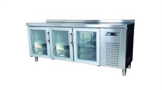 یخچال میز کار ۲ متری درب شیشه ای انداستریو