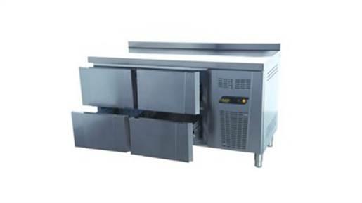 یخچال میز کار ۱۵۰ سانتی ۴ کشو انداستریو