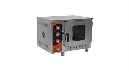 فر کانوکشن حرارت مستقیم خشک 4 سینی کنترل آنالوگ گازی