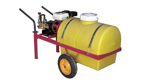 سمپاش 100 لیتری فرغونی با الکترو موتور تکفاز ۳ اسب  و پمپ پیستونی 45 مدل 16692