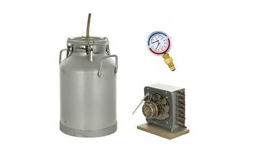 دستگاه تقطیر و دستگاه عرق گیری 10 لیتری 5 چفت با کندانسور برقی و ترمومانومتر مدل 21440