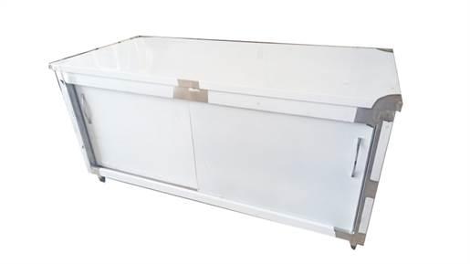 کابینت استیل درب کشویی طول 150