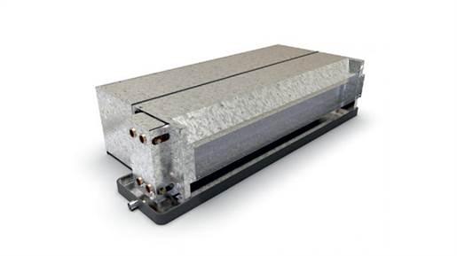 فن کویل سقفی توکار 2 کویل با پلنوم طرح نسیم 800 CFM