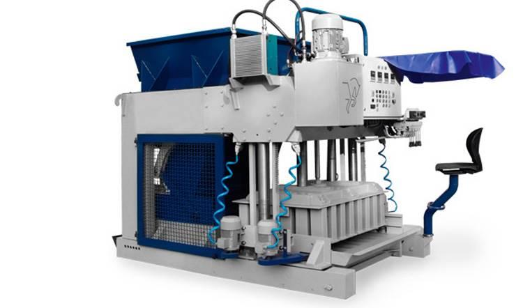 دستگاه بلوک ساز متحرک نیمه اتوماتیک تولید بر روی باند بتنی TB 1200