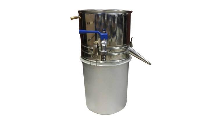 دستگاه عرق گیری و گلاب گیری لوله کوتاه معمولی 120 لیتری