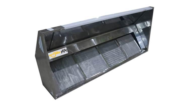 هود استیل فیلتر دار صنعتی ۱۵۰ سانت دیواری