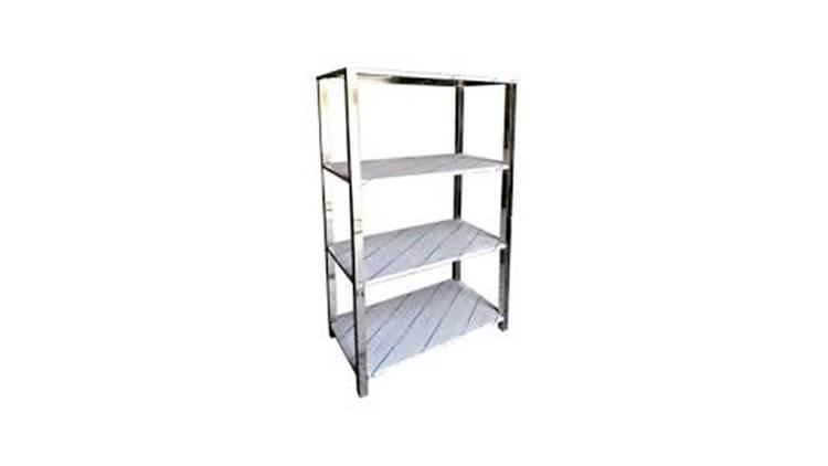 قفسه چهار طبقه ورق استیل