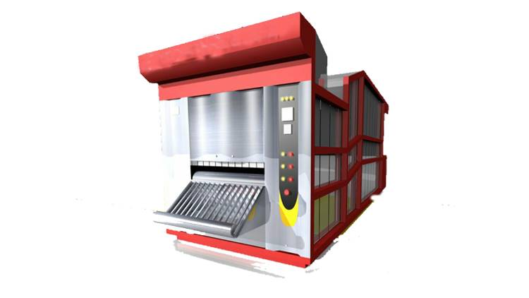 دستگاه فر تونلی مخصوص پخت نان بربری نیمه اتوماتیک مدل 1000