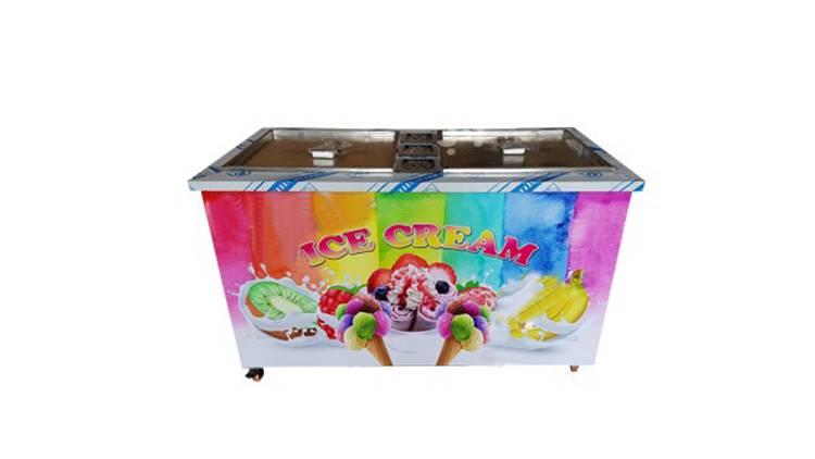 بستنی ساز دو سینی تاپینگ دار