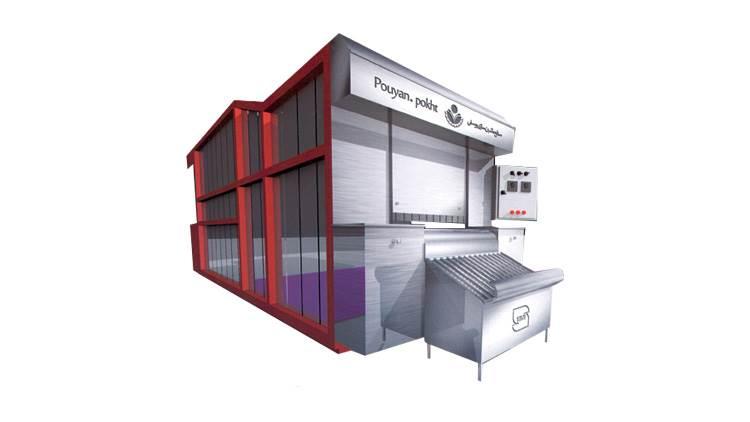 فر تونلی نیمه اتوماتیک تافتون حرارت غیر مستقیم تشعشعی مدل 1000