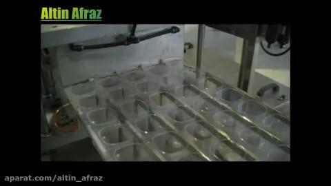 بسته بندی آب معدنی لیوانی با دستگاه ترمو فرم فیل سیل
