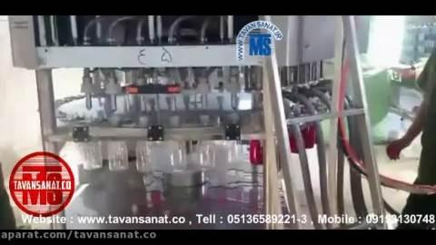 دستگاه پرکن و دربندی مخصوص تخم شربتی و مایعات پالپ دار