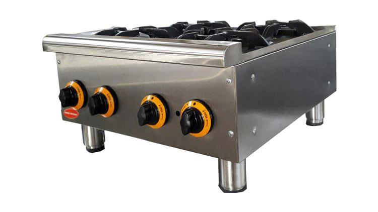 اجاق گاز 4 شعله رومیزی مدل COO4 , تجهیزات آشپزخانه صنعتی
