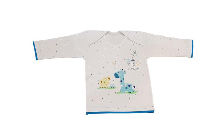 دوبل بلند نوزادی طرح زرافه و فیل , پوشاک بچهگانه