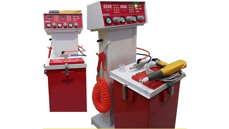 دستگاه رنگ پاش پودری الکترورنگ , تجهیزات رنگ و ریزین