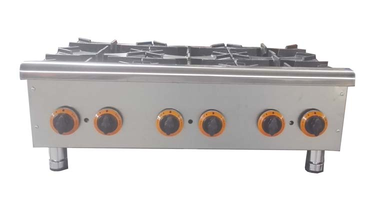 اجاق گاز 6 شعله رومیزی مدل COO6 , تجهیزات آشپزخانه صنعتی