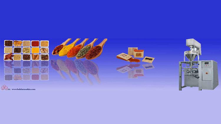 دستگاه بسته بندی ادویه و مواد پودری