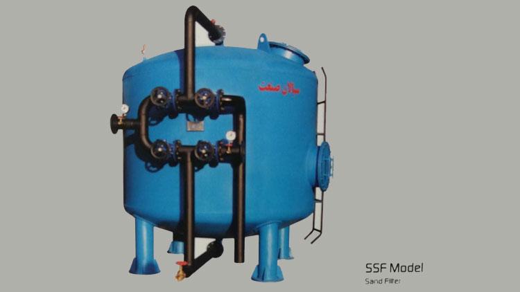 فیلتر شنی مدل SSF , تجهیزات ضدعفونی و تصفیه آب صنعتی
