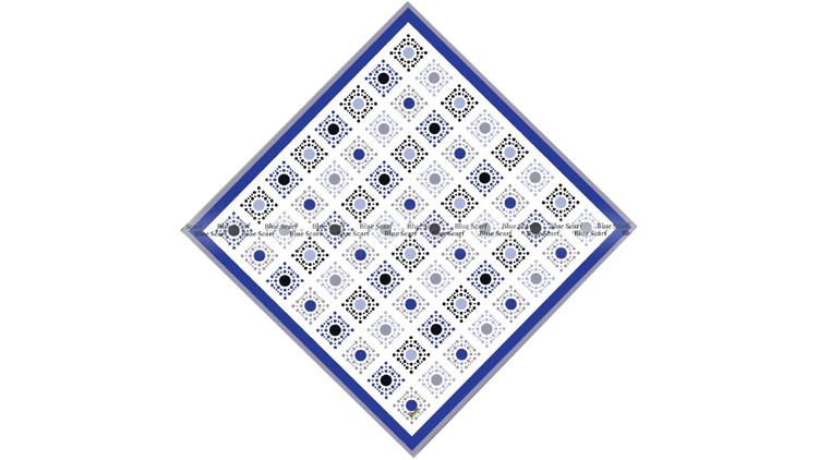 روسری نخی دور دست دوز سبک سازی شده کد 8070411