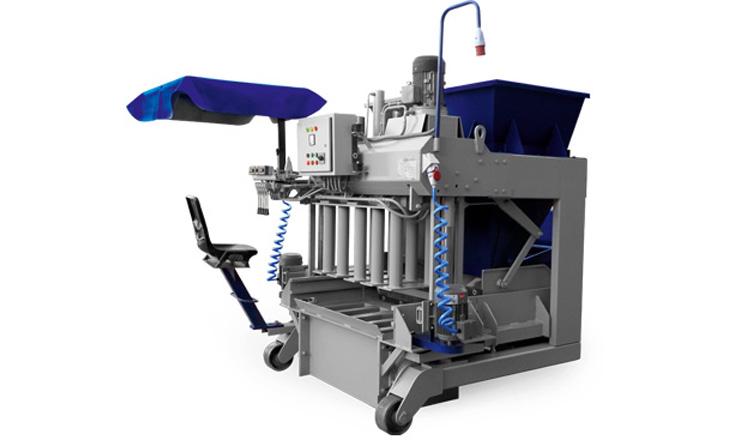دستگاه جدول ساز متحرک نیمه اتوماتیک تولید بر روی باند بتنی TB 250 , جدول زن وت پرس
