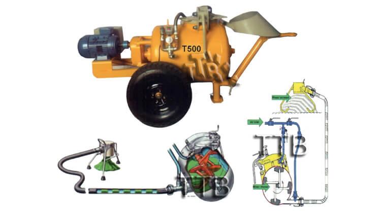 دستگاه انتقال مصالح T500 , دستگاه انتقال مصالح