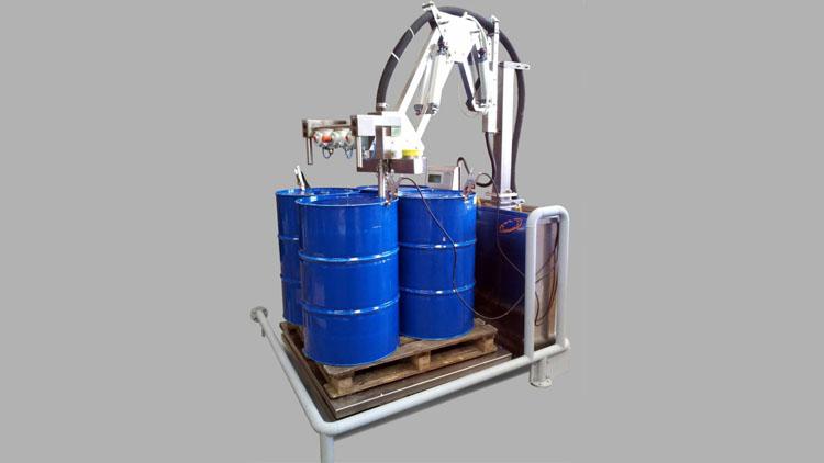 دستگاه بشکه پرکن نیمه اتوماتیک و تمام اتوماتیک
