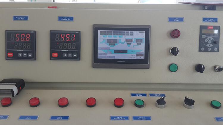 سیستم کنترل کارخانه اسفالت