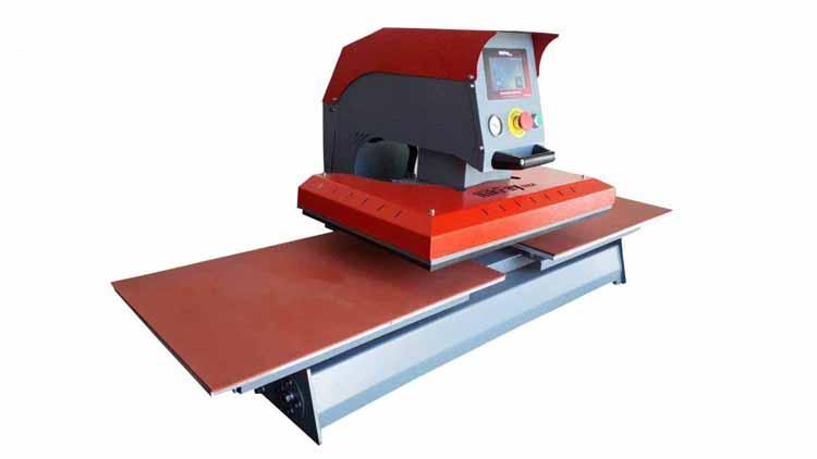 دستگاه پرس حرارتی 80در100 پنوماتیک دو میز , تجهیزات صنایع نساجی و بافندگی