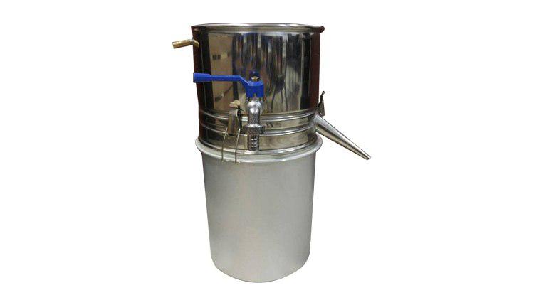 دستگاه عرق گیری و گلاب گیری لوله کوتاه معمولی 55 لیتری , دستگاه تقطیر عرقیات گیاهی