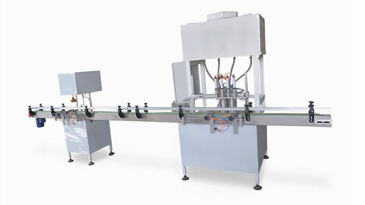 دستگاه پرکن خطی و دربندی مایعات پیستونی اتوماتیک