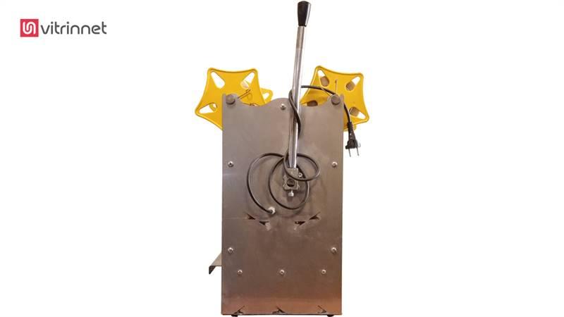 دستگاه سیل لیوانی نیمه اتوماتیک استیل قطر 75 یا 95
