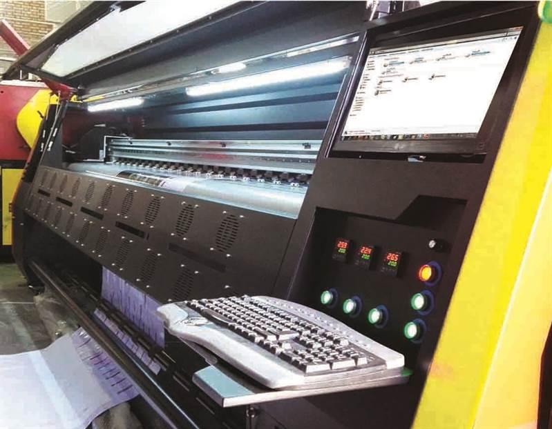 چاپ دستگاه چاپ بنر konica i شرکت شتاب جت با سرعت 300 متر در ساعت