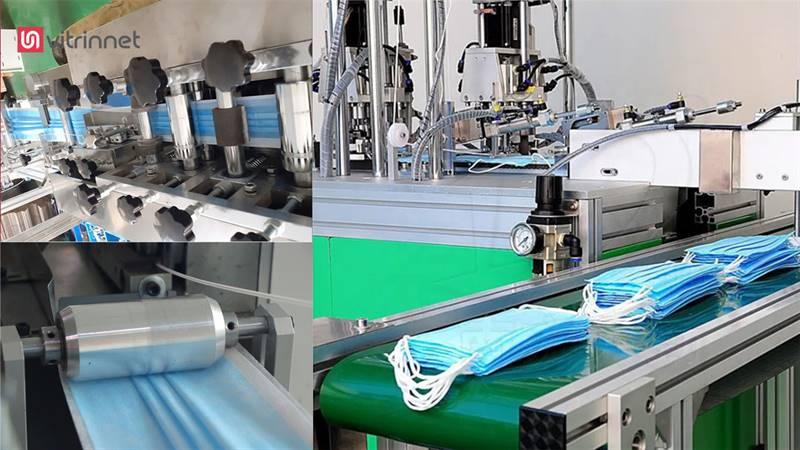 خط تولید ماسک پرستاری سه تا شش لایه و فیلتردار مدل تمام اتومات