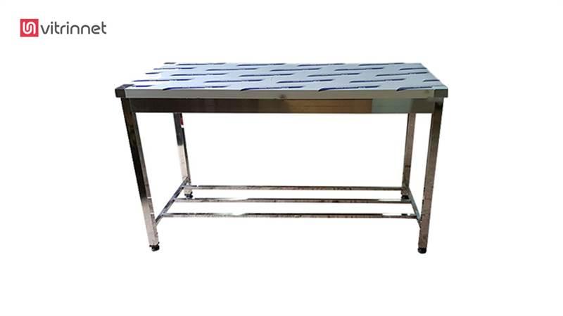 میزکار استیل 100 بدون طبقه دارای پاتراکی مدل 21458