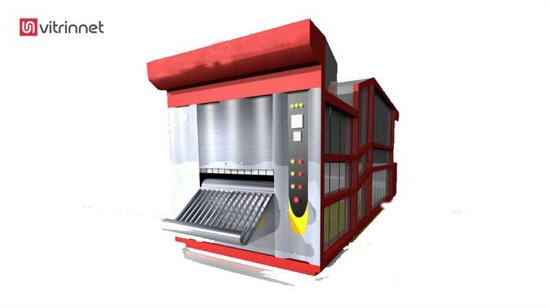 دستگاه فر تونلی مخصوص پخت نان بربری نیمه اتوماتیک مدل 2000