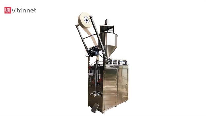 دستگاه ساشه مایعات و خمیرها 1000 میلی لیتری با همزن عمودی مدل ABPSTE 100-1000