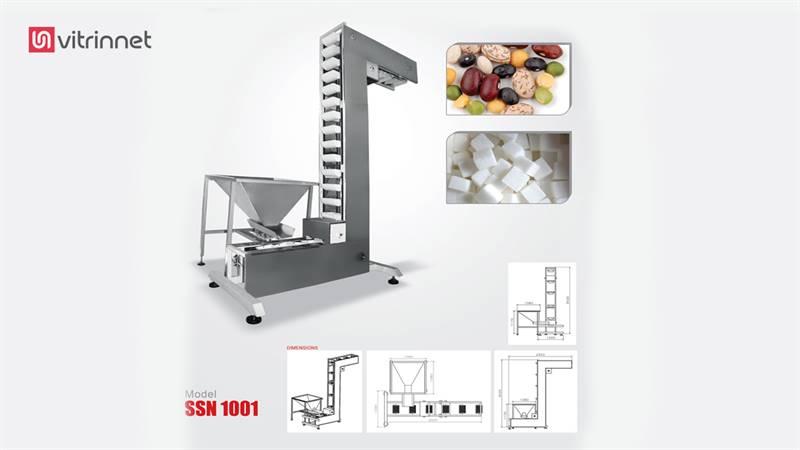 دستگاه بالابر کاسه ای z و مخزن استیل مدل ssn1001
