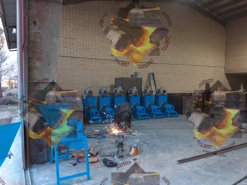 خط تولید زغال فشرده یا چینی