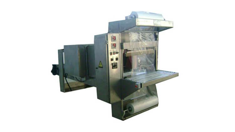 دستگاه شیرینگ پک نیمه اتومات با بدنه تمام استیل 304