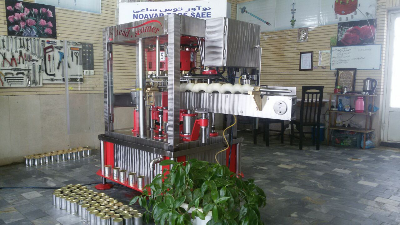 دستگاه درب بندی قوطی پنج کله