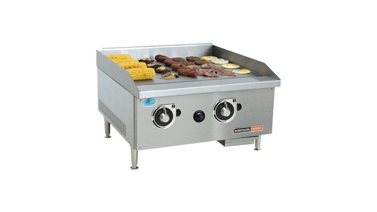 گریل تخت 60 سانت گازی با پیلوت (شمعک) و 2 ترموستات کنترول دما و حرارت - CBF1600