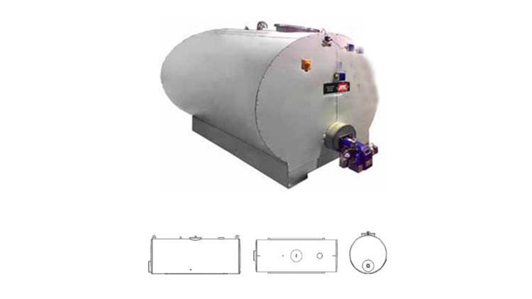 تانکر مولد آب گرم 1500 لیتری