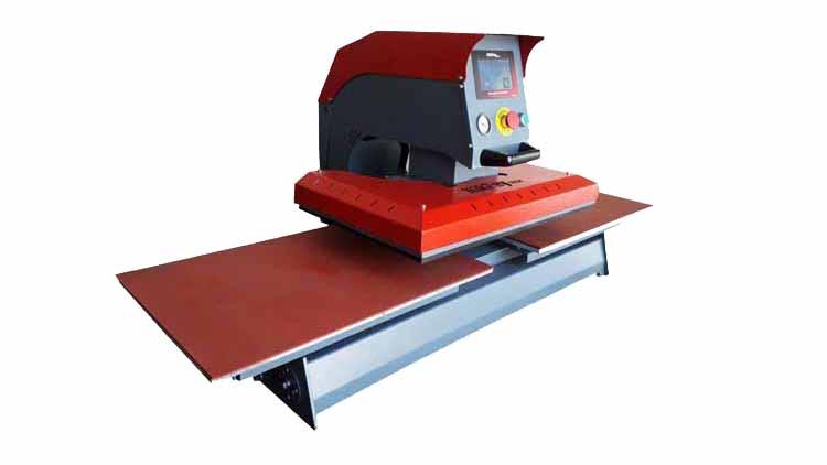 دستگاه پرس حرارتی 60در40 پنوماتیک دو میز , صنایع نساجی و بافندگی