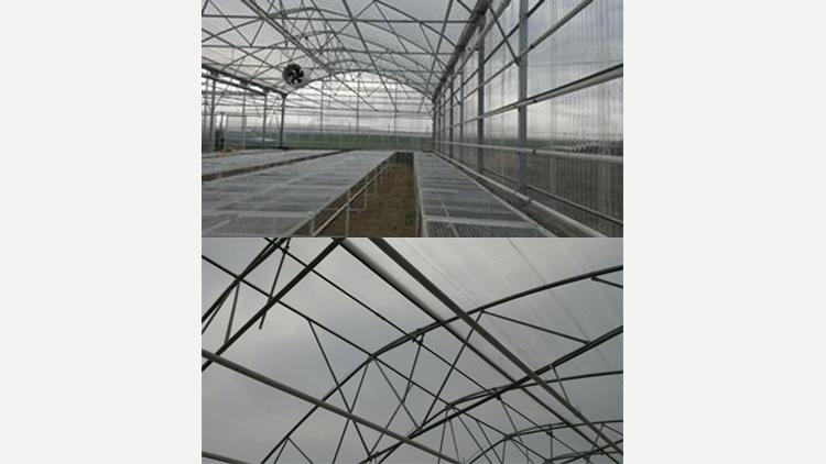 سازه گلخانه طرح اسپانیایی