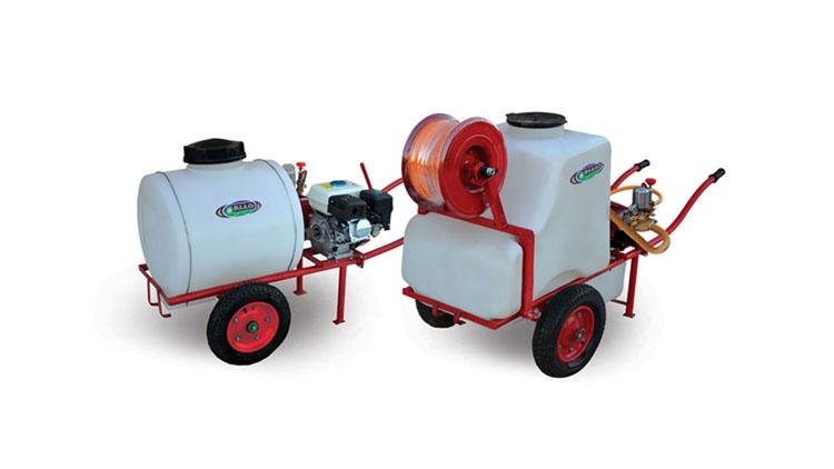 سمپاش موتوری چرخدار یا فرقونی