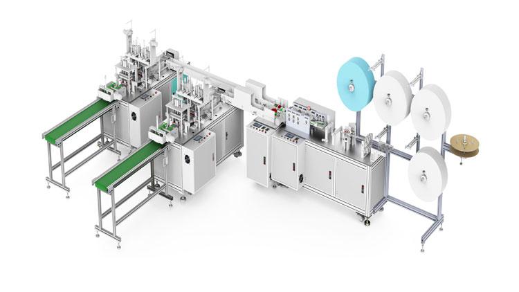دستگاه تولید ماسک فیلتردار فول آپشن مدل A105-N95 , ماشین آلات تولید پوشاک بیمارستانی و یکبار مصرف