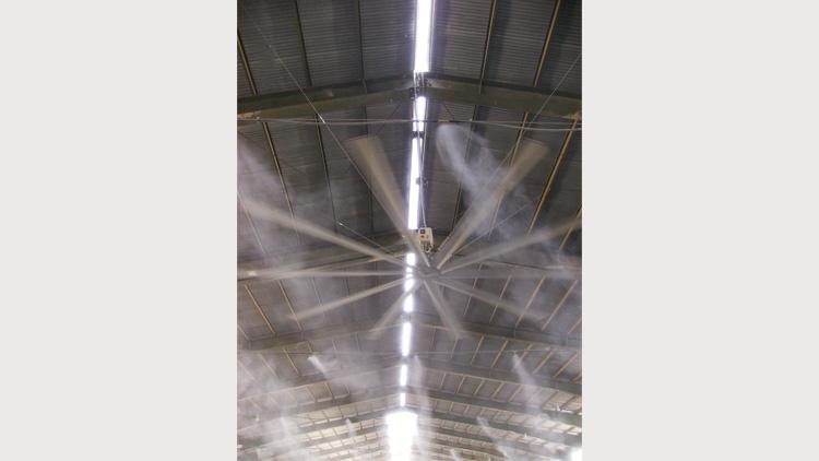 فن سقفی دامداری  , فن و هواکش دامداری