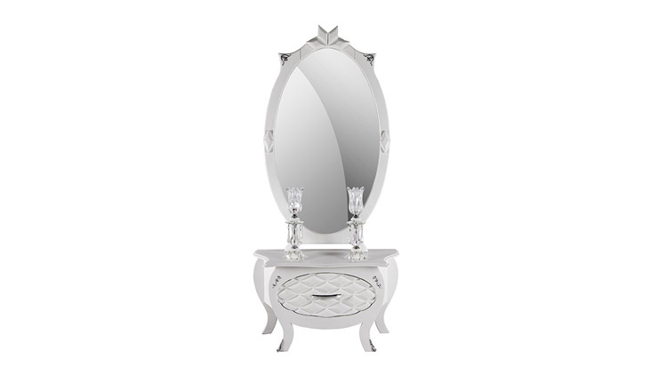 میز کنسول و آینه طرح ستاره , آینه و میز کنسول